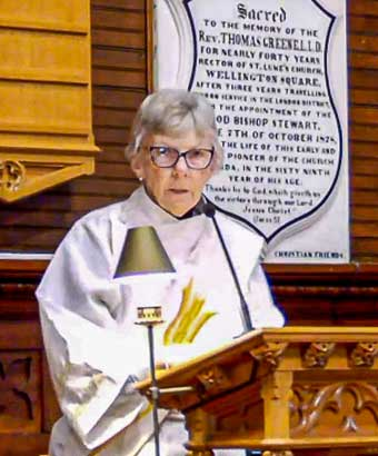 Rev. Sheila Plant, Deacon